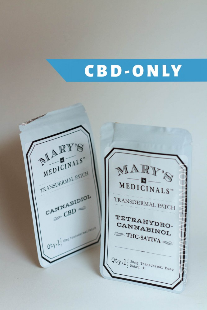 Mary's Medicinal Patches – CBD-only, 10-pack