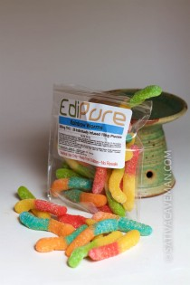 EdiPure Gummy Worms (250mg bag)